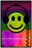 Audio Smile Flocked Blacklight Poster Affiches