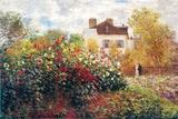 Claude Monet, kunstnerens hage, kunsttrykk Plakater av Claude Monet