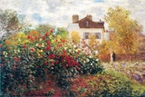 Claude Monet The Artist's Garden Art Print Poster Poster by Claude Monet