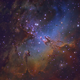 M16, the Eagle Nebula in Serpens Photographic Print by Stocktrek Images