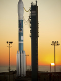 The Delta II Rocket On Its Launch Pad Photographic Print by Stocktrek Images