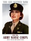 World War II Poster of a Smiling Female Officer of the U.S. Army Medical Corps Photographic Print by Stocktrek Images