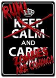 Run! Zombies Are Coming! Tin Sign Placa de lata