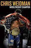 UFC - Chris Weidman Sports Poster Posters