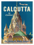 Pan American World Airways (PAA) - Calcutta India by Clipper - Pareshnath Jain Temple Posters