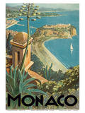 Monaco - Monte Carlo, French Riviera Posters by E. Clerissi