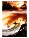 Hawaiian Wave On Fire Art by  Walthall