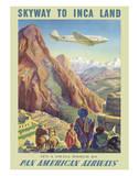 Skyway to Inca Land - Pan American Airways (PAA) Lámina giclée por Paul George Lawler