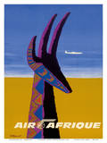 Air Afrique - Gazelle Poster by Bernard Villemot