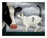 Cow and Cat Prints by Lowell Herrero