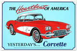 1960 Corvette Tin Sign Placa de lata
