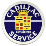 Cadillac Service Round Tin Sign Placa de lata