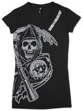 Women's: Sons of Anarchy - V-Neck Cover Up Damen-T-Shirts mit V-Ausschnitt