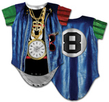 Infant: Old School Rapper Costume Romper Body para bebê