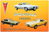 Pontiac Firebird Tin Sign Placa de lata