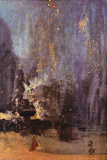 James Abbot McNeill Whistler Nocturne in Black and Gold, Falling Rocket Art by James Abbott McNeill Whistler