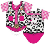 Infant: Cowgirl Costume Romper Body para bebê