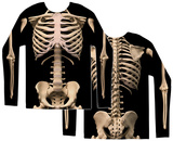 Long Sleeve: Skeleton Costume Tee T-shirt a maniche lunghe