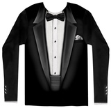 Long Sleeve: Tuxedo Costume Tee Camisetas de manga larga