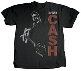 Johnny Cash - Guitar Slinger (premium) T-Shirt by Jim Marshall