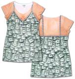 Womens: Sugar Mama Money Dress Costume Tee (Front/Back) Camiseta