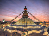 Nepal, Kathmandu, Bodhnath (Boudha) Stupa Fotografie-Druck von Michele Falzone