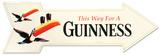 Guinness Arrow Tin Sign Tin Sign