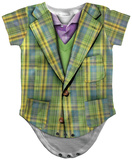 Infant: Plaid Suit Costume Romper Body para bebê