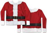 Long Sleeve: Santa Claus Costume Tee Mangas longas