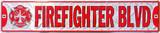Firefighter Blvd, Tin Sign Tin Sign