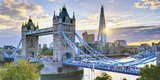 UK, England, London, River Thames, Tower Bridge and the Shard, by Architect Renzo Piano Lámina fotográfica por Alan Copson