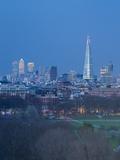 The Shard, Canary Wharf and London Skyline Above Hyde Park, London, England, UK Fotografie-Druck von Jon Arnold