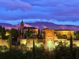 Spain, Andalucia, Granada Province, Granada, Alhambra from Sacromonte Hill Fotografie-Druck von Alan Copson