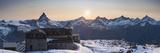 Gornergrat Kulm Hotel and Matterhorn, Zermatt, Valais, Switzerland Fotografisk trykk av Jon Arnold