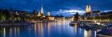River Limmat, Zurich, Switzerland Fotografisk trykk av Jon Arnold