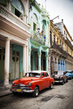Classic American Car (Plymouth), Havana, Cuba Stampa fotografica di Jon Arnold
