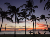 USA, Hawaii, Oahu, Honolulu, Waikiki Beach, Kapiolani Park 写真プリント : ミーケイレイ・フォールゾーン