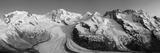 Monte Rosa Range and Gornergletscher, Zermatt, Valais, Switzerland Fotografie-Druck von Jon Arnold