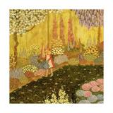 Girl in the Garden Giclee-trykk av  Ditz