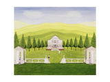 The Croquet Lawn Giclee-trykk av Mark Baring