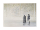 Man and Woman in an Art Gallery Giclee Print by Lincoln Seligman