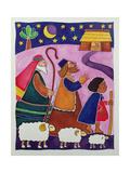 The Shepherds Journey to Bethlehem Reproduction procédé giclée par Cathy Baxter