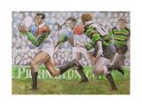 Rugby Match: Harlequins v Northampton, 1992 Giclee-trykk av Gareth Lloyd Ball