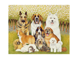Dogs in May Giclee Print by Pat Scott