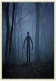 Slender Man In Woods Posters