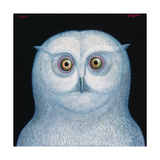 Great White Owl, 1996 Giclee Print by Tamas Galambos