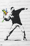 Banksy- Rage, Flower Thrower Fotografia por  Banksy