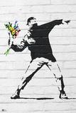 Banksy- Rage, Flower Thrower Print by  Banksy