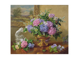 Still Life of Hydrangeas and Lilacs Reproduction procédé giclée par Albert Williams