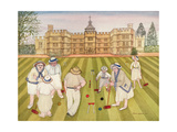 The Croquet Match Giclee-trykk av Gillian Lawson